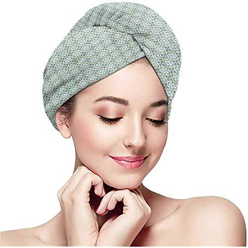 mahada handdoek gewikkeld microvezel hoofddoek, kleur patroon, super absorberend, snel droge hoofdband, droog haar krullen, lang haar douchekap