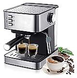Máquinas de café 1.6L Máquina de café espresso eléctrica 1,6L Molinillo de café 15 Bar Express Express Fabricante de café eléctrico Electrodomésticos Regalo Bomba tradicional Espresso Máquina Café Bre