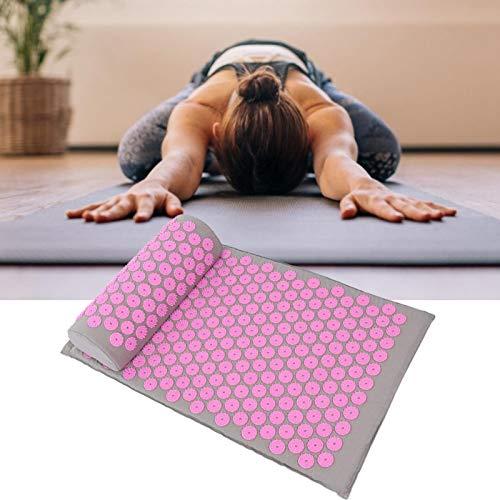 Esterilla de yoga de 68 x 42 cm segura para mejorar la calidad del sueño Mantiene el cuerpo sano No irritante(Light gray powder button)