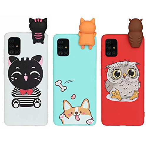 [3 Pack] Case for iPhone 7 Plus, iPhone 8 Plus, 3D Cartoon Silicone Soft Silicone Gel TPU Shockproof Protective Cases Slim Fit Ultra Thin Rubber Bumper Funny Girly Cover for iPhone 7 Plus/8 Plus3Pcs-1