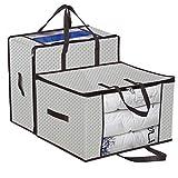 homyfort 2 Stück Aufbewahrungstasche für Bettdecken und Kissen - Kleidung Lagerplätze, Decken...