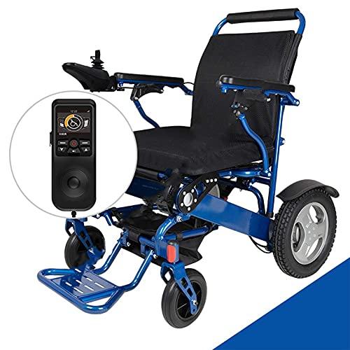 YIQIFEI Silla de Ruedas Ligero Plegable Eléctrico Portátil Potencia 250W * 2 Motor Doble Ayuda a la Movilidad Scooter Teléfono Inteligente APLICACIÓN Co (Silla)
