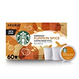 Starbucks Pumpkin Spice Flavored Single-Cup Coffee for Keurig Brewers, 6 Boxes of 10 (60 Total K-Cup Pods)