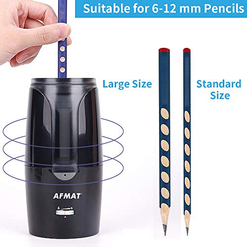 AFMAT Colored Pencil Sharpener, Pencil Sharpener for Artists, Large Rechargeable Cordless Pencil Sharpener for Colored Pencils(6-12mm), Super Quiet Long Lasting Electric Pencil Sharpener, Auto Stop Photo #7