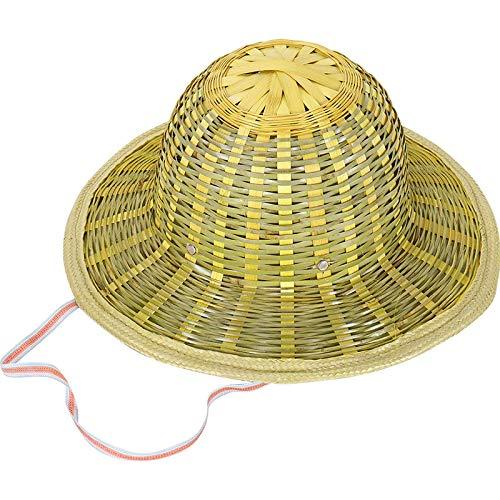 Sunshine Forest New-Vietnamese Japanese Coolie Straw Bamboo Cone Sun Hat Garden Farmer Fishing Grass Green