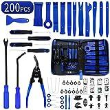 Wetado Trim Removal Tool, 200PCS Trim Tool Auto Removal Kit, Plastic Panel Fastener Removal Tool, Trim Removal Kit for Car/Trim/Panel/Door/Audio/Auto Clip Pliers/Terminal Removal Tool Kit
