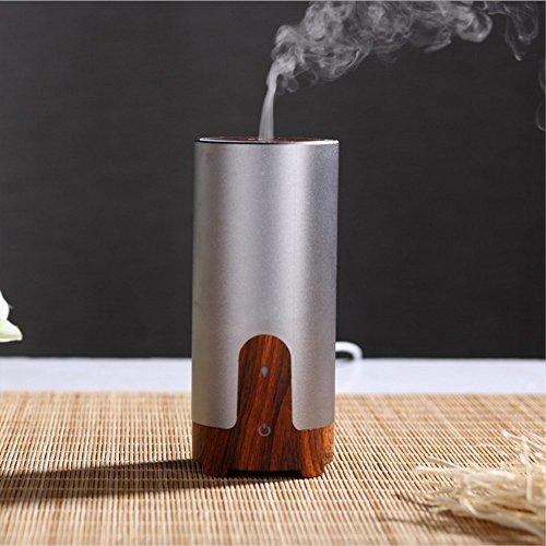 VUKUB Voiture Chargeur Aromathérapie Machine USB Humidificateur Aromathérapie Diffuseur D'huile Essentielle Ultrasons Cool Mist Diffuseurs,Gray