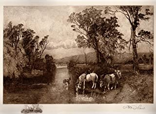 Chadds Ford, Pennsylvania (site of The Battle of Brandywine/Brandywine Creek): Robert Shaw Etching, Signed & Numbered Artist's Proof, Chine-colle with remarque, 1906