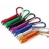 OFKPO 7PCS Colori Mini Torce Elettriche con Batterie Torce Portachiave per Il Campeggio Escursioni