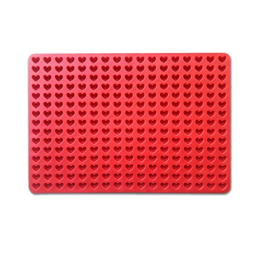 255 cavity mini heart molds for chocolate candy gummy molds for jelly cookies pet treats baking mold (heart)