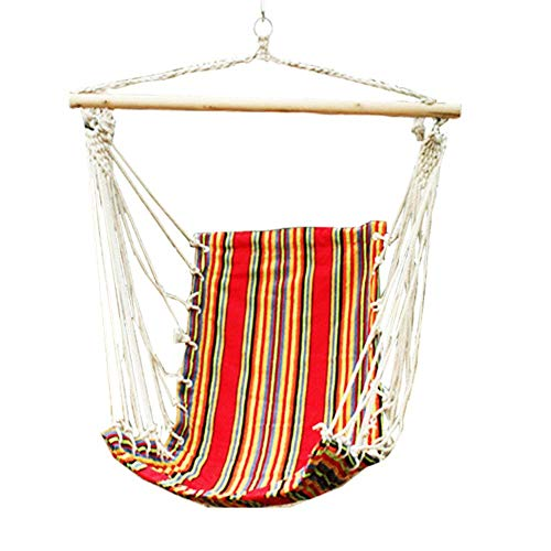 Z-ZH Hängender Stoffstuhl | 1 Person Hängemattenschaukelsitz | Canvas Swing Chair 100X130 cm, Schaukelstuhl für Kinder im Freien