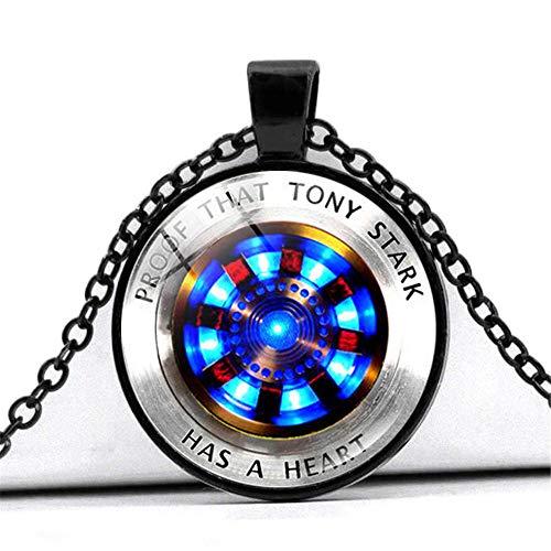 The Avengers Film Souvenir Schmuck Anhänger Halskette New Marvel Iron Man Tony Halskette für Männer Frauen Jungen Geburtstagsgeschenk