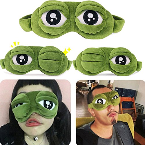 Augenmaske, lustige Froschaugenmaske für Schlafruhe