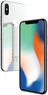 Apple iPhone X Silver 64GB SIM-Free Smartphone (Renewed)