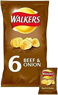Walkers Beef & Onion Crisps 25g x 6 per pack
