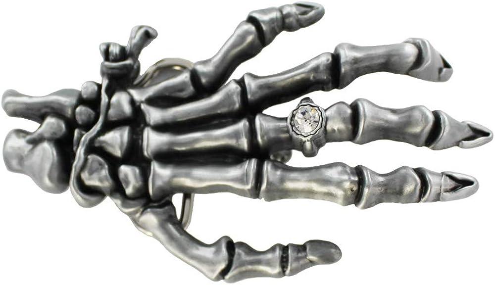 eeddoo Cinturón Hebilla–Calavera Mano–Plata–Buckle (Buckle para cambio Cinturón para hombre y mujer)