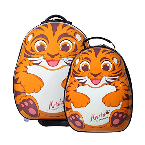 The Cuties and Pals Cuties and Pals Kinderkoffer Kindergepäck Kinder Reisegepäck Kindertrolley Koffer Trolley Handgepäck (Tiger, Set)