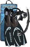 Cressi Pluma Pack de Snorkel, Unisex, Negro/Gris, 41/42