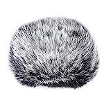 Sunmns Pelzige Windschutzscheiben-Windabdeckung, kompatibel mit Blue Yeti, Yeti Pro Kondensatormikrofon (schwarz, weiß)