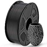 SUNLU Filament 1.75mm PLA 3D Drucker Filament PLA 1kg Spool (2.2lbs), Toleranz beim Durchmesser liegt bei +/- 0,02mm PLA Schwarz