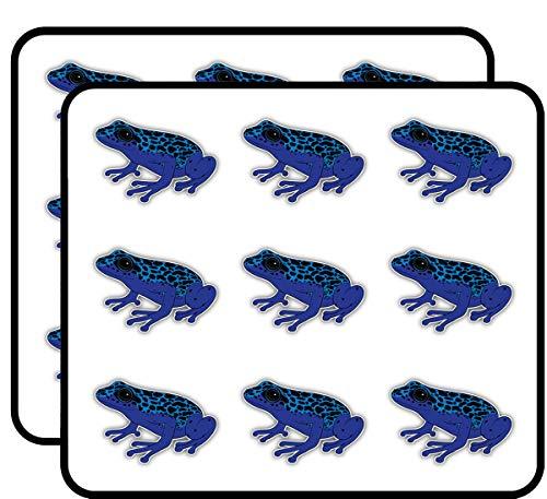 "Poison Dart Frog Art Decor Planner Calendar Scrapbooking Crafting Stickers 2"" Each 18 Pack"