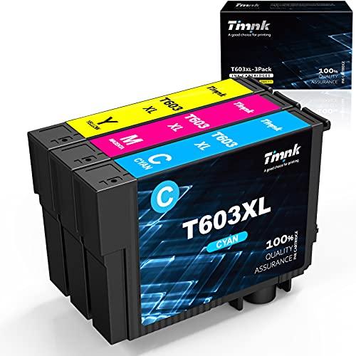 Timink Cartuchos 603 XL Compatibles con Epson Impresora de Tinta Negra Reemplazo Epson Expression Home XP 2100 XP 2105 XP 3100 XP 3105 XP 4100 XP 4105 WorkForce WF 2810 WF 2830 WF 2850 (3 Paquetes)
