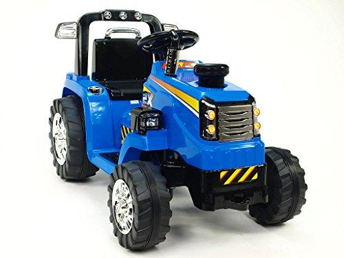 Kinderauto Kinderelektroauto Kinderelektrofahrzeug Kinder elektroauto 12V Traktor blau