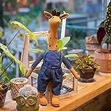 BLdDRcg Lindo muñeco de Peluche de Ciervo Jirafa, Muñeco de Peluche de Ciervo de Peluche Suave, Muñecos de Peluche mullidos de Dibujos Animados, Regalo de cumpleaños para bebé, niños, niñas. Blue