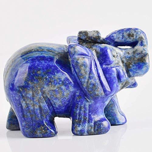 WZF Figuras de Elefante artesanía Tallada Piedra Natural Elefante Mini Animales Estatua para decoración del hogar 1 Pieza
