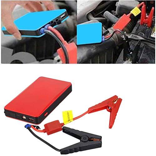 Cuthf Auto Starthilfe Powerbank 500A Tragbare Power Pack Jump Starter Starthilfegerät 12V Autobatterie Anlasser Und Ladegerät,Externes Akku-Ladegerät Mit LED Notfalllicht,Rot