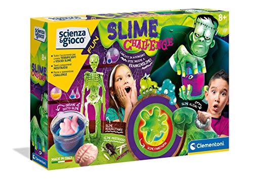 Clementoni Scienza e Gioco Fun, Slime Challenge, Gioco Scientifico 8 Anni, Laboratorio Slime Esperimenti, Fabbrica Slime, Kit per Slime, Versione in Italiano, 19196