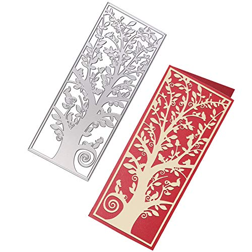 OOTSR Cutting Dies for Card Making, Tree Cutting Die, Metal Stencil Die Cuts for Scrapbooking Card Album Paper Cards Crafts DIY Decoration Gifts