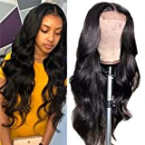 Lace Closure Wig Body Wave 16 Inch Human Hair Wigs 4 By 4 Lace Front Wig Human Hair Body Wave Wig Pre Plucked With Baby Hair Free Part Brazilian Hair Wig Natural Color