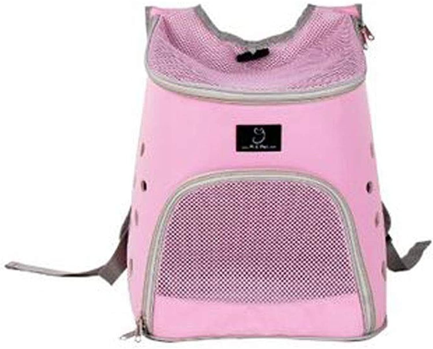 Guyuexuan Lightweight Pet Backpack, High Breathable Carrying Case, Suitable for Dogs, Cats, Pets, Camping, Suitable for Small and Medium Pets.Black, blueee, Pink Pet Travel Essentials (color   Pink)