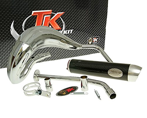 Turbo de escape Kit bufanda RQ cromo para Yamaha DT50 (03