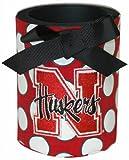 Game Day Outfitters NCAA Nebraska Cornhuskers Dosenkühler aus Schaumstoff mit Bezug mit Schleife