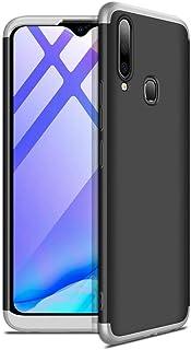 جي كي كي غطاء حماية 360 درجة لجوال فيفو واي17 - أسود مع فضي