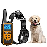 Dog Training Collar Receive Signal Range 2600 Feet Suitable for 10~110lbs Small Medium and Large Dogs All Breeds of Dogs Have Three Modes of Buzzing Vibration and Shock Bark Collars