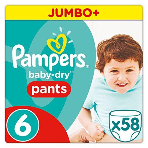 Pampers Baby-Dry Pants Größe 6 (XL) 16+ kg, 1er Pack (1 x 58 Windeln)