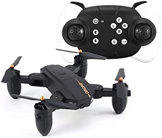 N/A KUOLOUKEJI Utoghter X39-1 Mini FPV Foldable Drone Smart RC Quadcopter with Altitude Hold Headless Mode 3D Flips One Key Take Off ( Color : Black )