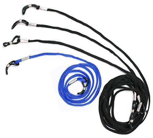 dy_mode dy_mode Universal Brillenband Brillenkordel - 4er Pack - für Lesebrille Sportbrille Sonnenbrille 6 Farb Auswahl - BB002 (BB002-Blau)