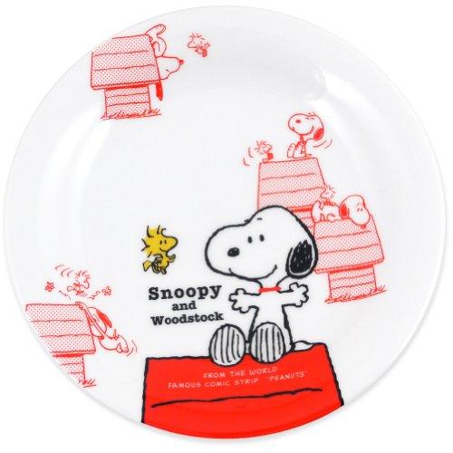 「 PEANUTS(ピーナッツ) 」 スヌーピーズハウス ニューボン ケーキ皿 16cm 白 603133