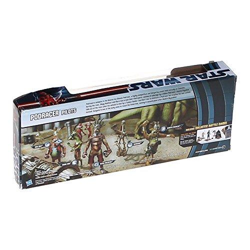 Hasbro Star Wars 2012 Clone Wars Exclusive Battle Pack Podracer Pilots Dud Bolt, Mars Guo, Clegg Holdfast, Gasgano Teemto Pagalies