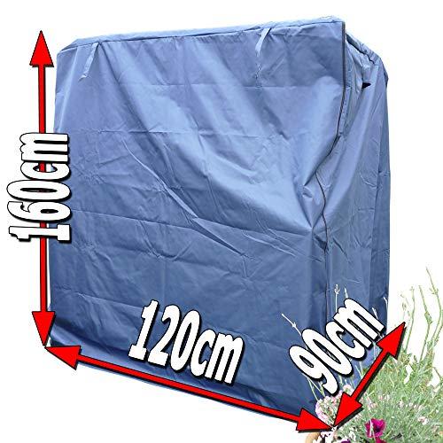 XINRO® universal XL Strandkorbhülle blau für bis zu 120cm breite Strandkorb Abdeckhaube Schutzhülle Abdeckplane Strandkorbhaube Strandkorbplane
