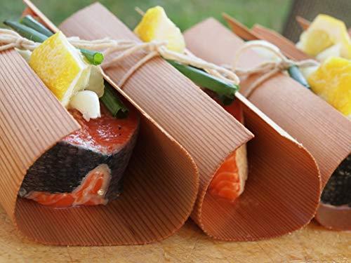 51u0EWrXpRL - grillart® Premium BBQ Wood Wraps - 12 Pack XL Grillpapier – Zedernholz zum Grillen – Räucherpapier aus Zedernholz für einen besonderen Grillgeschmack