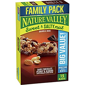 Nature Valley Sweet and Salty Nut Dark Chocolate Peanut and Almond Granola Bars 18.5 oz 15ct