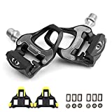SUPOW Ultralight PD-R97 Bike Pedals Bicycle Platform Pedals SPD-SL System Carbon Professional Cycling Bike Road Pedals
