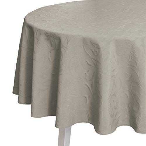 Pichler CORDOBA_170_PL hochwertig und bügelfrei - Tischdecke rund 170 cm platin