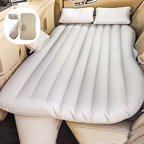 WLD Praktisches aufblasbares Bett Travel Aufblasbares Bett Rücksitz Erweiterte Matratze Universal-Autokissen Beflockte Camping-Luftmatratze für Kinder, A-Starprotectionheadguard,A-Oxford-Tuch ohne Ko