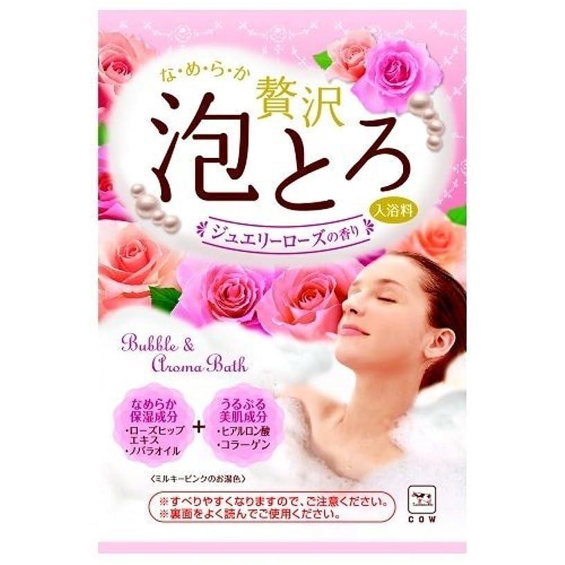 延期するレインコート典型的な牛乳石鹸共進社 贅沢泡とろ 入浴料 ジュエリーローズの香り 30g